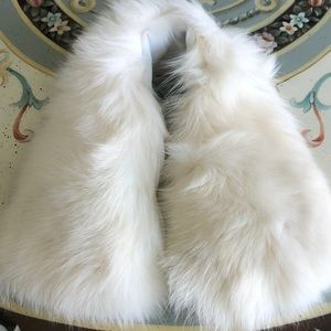 New White Fur Collar
